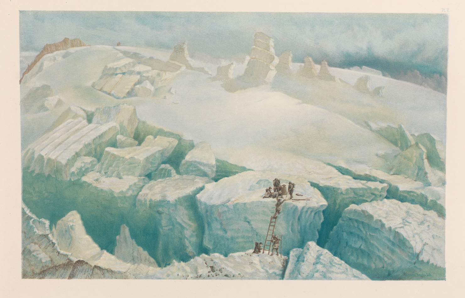 Upper Ice-World of Mont Blan