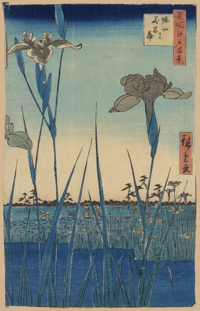 Iris garden by Hiroshige