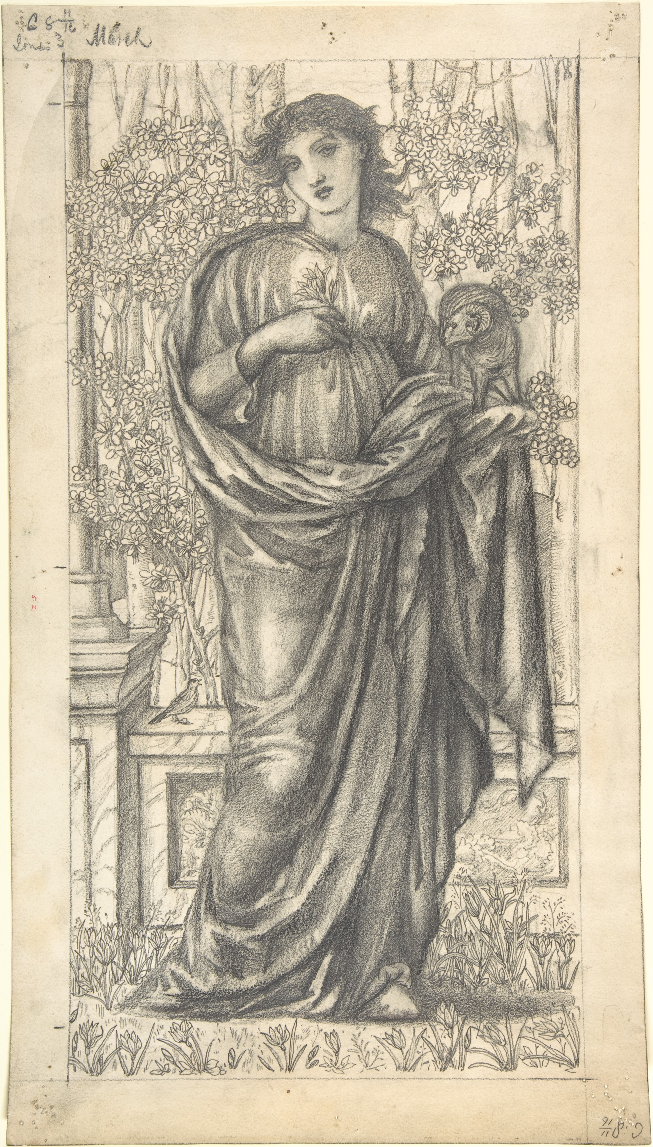 The Month of March ca. 1866 Sir Edward Burne-Jones